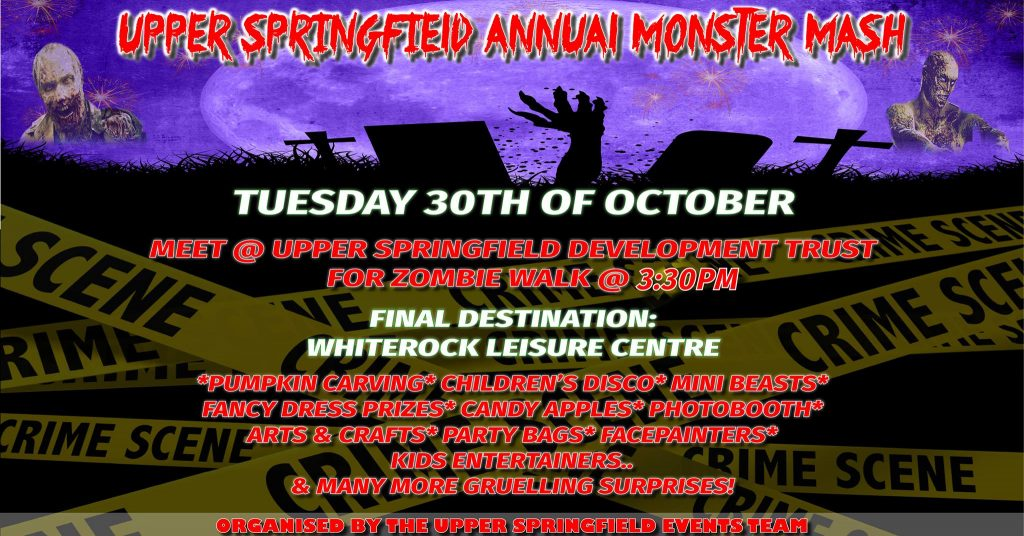 Upper Springfield Monster Mash on Tuesday 30th October