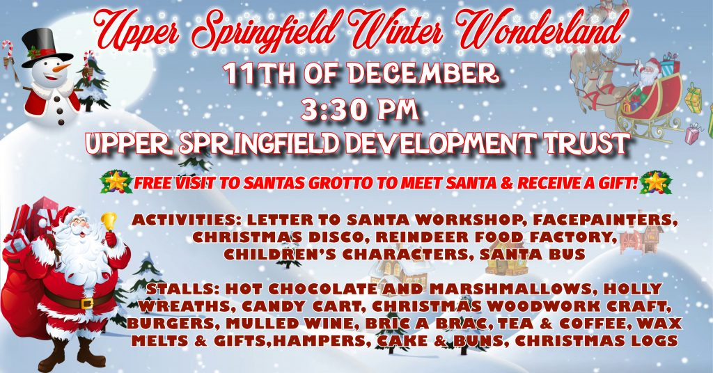 Winter Wonderland event at Upper Springfield DEvelopment Trust Belfast on Tuesday 11th December 2018