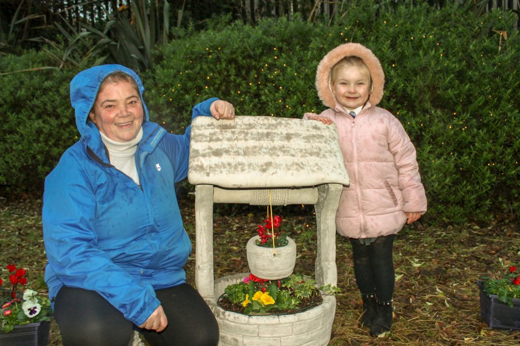Lorraine Morrison and daughter Zoey Morrison enjoy the new Garden of Hope and Reflection in Upper Springfield
